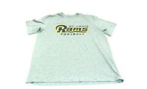 Nike T-Shirt Gray Dri-Fit NFL On Field St.Louis Rams Short Sleeve Men Size Large