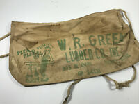 Antique W.R. Green Lumber Advertising Apron Pratt Kansas KS