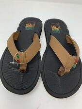 NEW Vans Nexpa Brown Black Rasta Men's Sandals Flip Flops Size 8