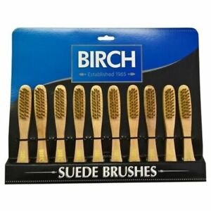 Wooden Handle Suede Brush Helps To Clean and Restore Nap on Shoes, Boots Jackets