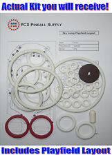 1974 Gottlieb Sky Jump Pinball Machine Rubber Ring Kit