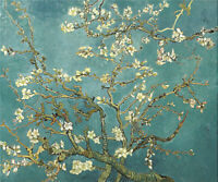 Canvas print old master Vincent van Gogh Branches with Almond Blossom 20x26inch