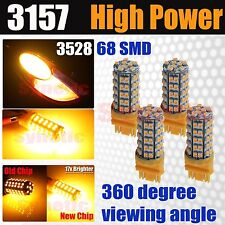 4x 3157/3156/4157 3528 Smd Led Bright 263Lm Amber Yellow Turn Signal Light Bulbs (Fits: Neon)