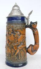 Belle MUG beer to Lid GERZ with handle Renard Animal
