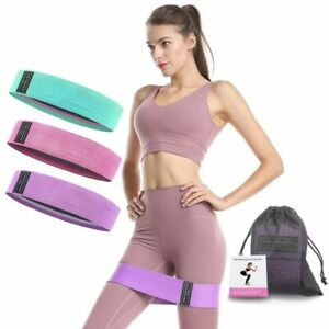 Bands Set Fabric Resistance Gym Equipment Workout Yoga Sports Fitness Training