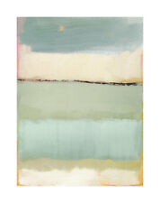 NOON I CAROLINE GOLD ABSTRACT BLUE GREEN WHITE YELLOW ART PRINT 20X28 POSTER