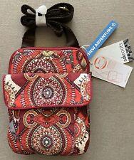 Sakroots Purse New Adventure Messenger Bag Ruby Wanderlust Wynnie