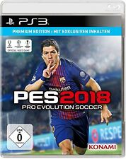 Ps3 jeu PES 2018-Premium Edition Pro Evolution Soccer 18 Football Article Neuf