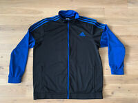 Adidas Tracksuit Jacket Track Zipped XL 48/50 Black / Blue - Good Condition!