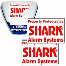 2 X ANTIFURTO ALLARME BOX stickers-security SIRENA signs-home, business,property-lands