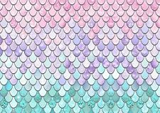 MERMAID FISH SCALES A4 Edible Cake Topper Wafer Rice Paper PATTERNED CAKE WRAP