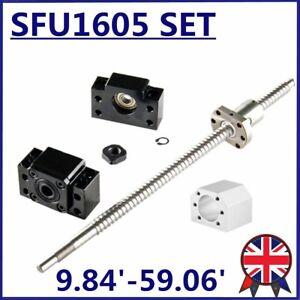 CNC Ball Screw SFU1605 250mm-1500mm C7 + BK/BF12 End Support + Ballnut Housing