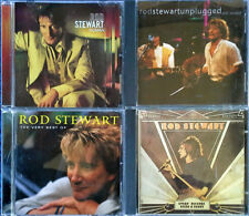 ROD STEWART - HUMAN, VERY BEST, UNPLUGGED, EVERY PICTURE - (4) CD LOT