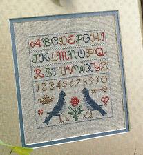 Bluebird Sampler Cross Stitch Pattern chart from a publication Spring Seasons