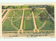 Unused Linen AERIAL VIEW OF GROUNDS AT CAPITOL Baton Rouge Louisiana LA n3530