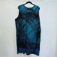 NEW NIC+ZOE Plus Size 3X Women's Black & Blue Sleeveless Sweater Dress Nordstrom