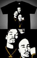 New9 Gold Tupac Snoop Dogg tshirt 2pac 90's jordan gold 11 cajmear  M L 3XL