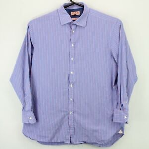 Thomas Pink Special Edition Mens Button Up LS Shirt sz 18 37 Multicolor Striped