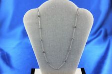 14K White Gold Round Diamond by the Yard Style Necklace 0.65TCW 3.3G