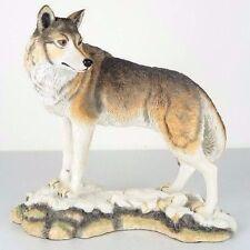 """Lone Wolf Figurine Miniature Statue 9.5""""L New in Box"""