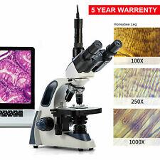 Us Swift Sw380t 40x 2500x Trinocular Compound Microscope With 5mp Digital Camera