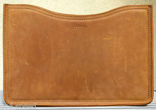 "EUC Saddleback Leather Script Logo Retired MACBOOK PRO SLEEVE MEDIUM 15"" Tobacco"