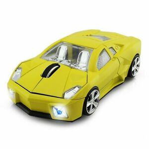 Wireless PC Mouse Car Shaped USB Gaming Optical Laptop Computer Mac Mice 2.4Ghz