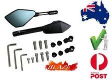 Blaze Universal Bar Mount Motorcycle Mirrors Set Suzuki GS500E GS500