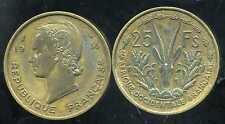 AFRIQUE OCCIDENTALE FRANCAISE   25 francs 1956   (  TTB )
