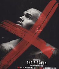 CHRIS BROWN X Window Cling 2014 OFFICIAL PROMO New Mint RARE CHEAP!
