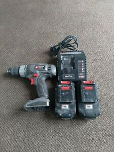 Porter Cable 18v Cordless Drill PC1801D     2 Battery & Charger TESTED & Works