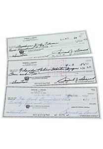 Sam Snead Autographed Personal Bank Donation Checks (3)