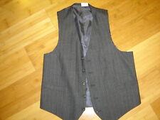 Sherlock Holmes steampunk suit vest gray pinstripe front lined  S 36 C