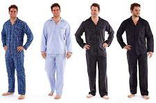 Mens Gents Harvey James Nightwear Polyester/Cotton Pyjamas Pjs Check Stripe