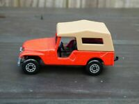Vintage 1977 Matchbox Superfast No 53 JEEP CJ-6 Red Willys Toy Diecast  Car