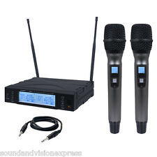 Kam KWM1960 HH V2 16Ch Dual Twin UHF Wireless Handheld Radio Microphone Mic Kit