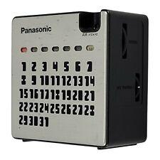 Vintage 1976 PANASONIC Calendar AM Transistor Radio Model no. R-77 Made in Japan