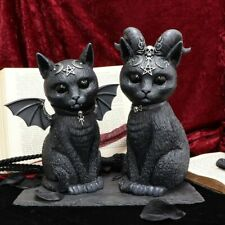 More details for nemesis now pawzuph large malpuss large winged cat horned cat black cat occult
