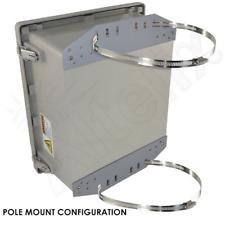 Altelix 14x12x8 Pole Mount Fiberglass NEMA Enclosure with 120 VAC Power Outlet