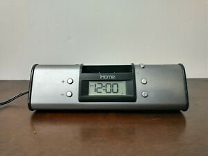 iHome Model iH16 iPod Docking Station Alarm Clock Stereo System Silver preowned