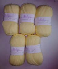 James Brett Baby Shimmer DK Knitting Yarn 500g Yellow BS2 *FREE POST*