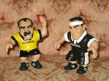 Vintage Pair of Guiness Collectable Rubber Rugby Ref & Player Figures