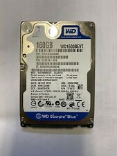 "WD 160GB WD1600BEVT 5400RPM 8MB SATA 2.5"" Laptop HDD Hard Disk Drive BLUE"