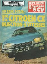 L'AUTO JOURNAL 1977 10 CITROEN CX 2400 GTI 24H MANS CITROEN GSpecial FIAT 128 CL