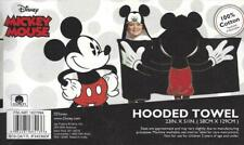 "Disney Mickey Mouse Hooded Towel 100% Cotton Terry Black 51""x23"" Bath Beach Pool"