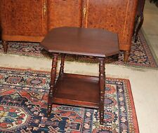 English Antique Mahogany Side Table Small Accent Bedside Wooden End Tray Table