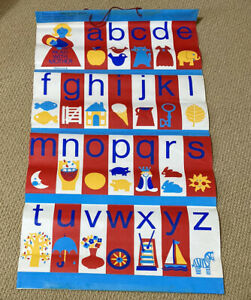 Mothercare Vintage READ WITH MOTHER A-Z Vinyl Wall Hanging 1960's 70's
