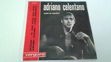 """ADRIANO CELENTANO """"CANTA EN ESPAÑOL"""" EP 7"""" SPANISH SINGLE A/A 1963"""