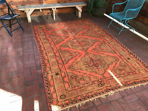 Turkish Rug - Vintage Beautiful Warm-Colored Soumak - 6'4'' x 9'5'' ft