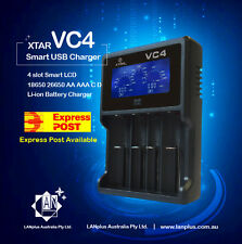 XTAR Vc4 4-slot Smart LCD USB Charger 18650 26650 AA AAA C D Li-ion NiMH Revive